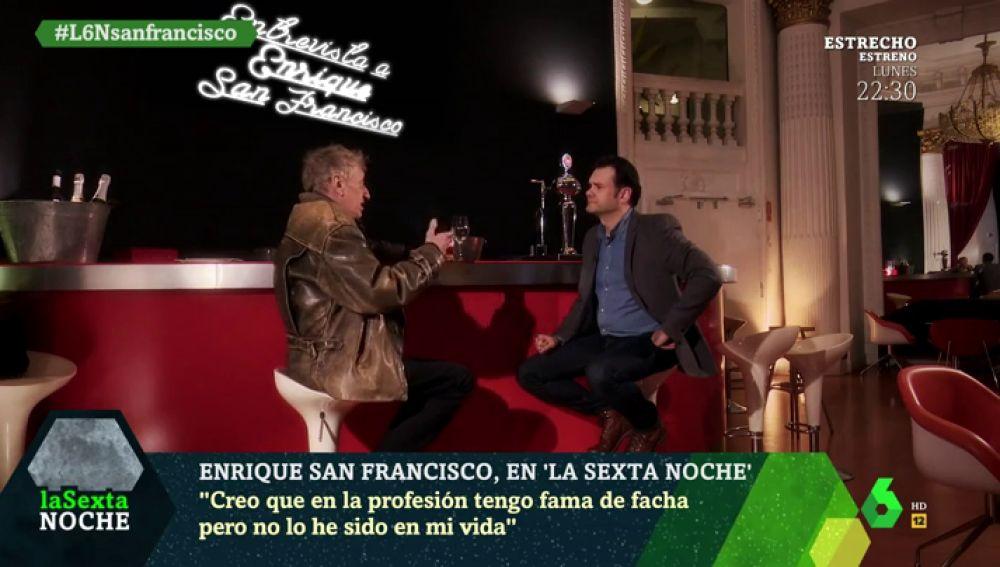 """Enrique San Francisco: """"Pasé tiempos muy jodidos con las drogas"""""""