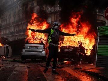 Imagen de los disturbios de los 'Chalecos Amarillos' en Francia