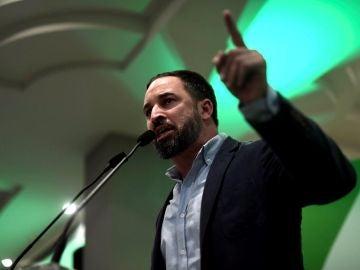 Santiago Abascal en un acto electoral