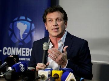 El presidente de la CONMEBOL, Alejandro Domínguez