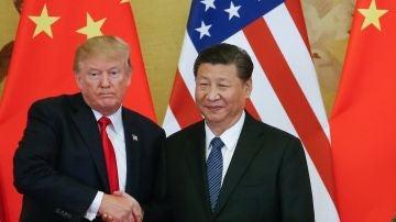 El presidente estadounidense, Donald J. Trump, y el presidente chino, Xi Jinping