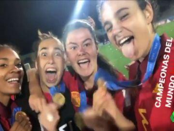 Así fue la fiesta y la celebración de la selección femenina sub 17 tras ganar el Mundial