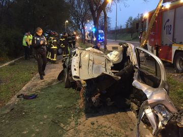 Accidente mortal en Madrid