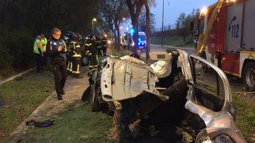 Accidente mortal en Madrid