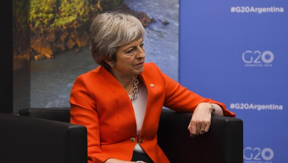 Theresa May en la cumbre del G20