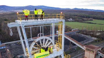 Protesta de Greenpeace en Eslovaquia