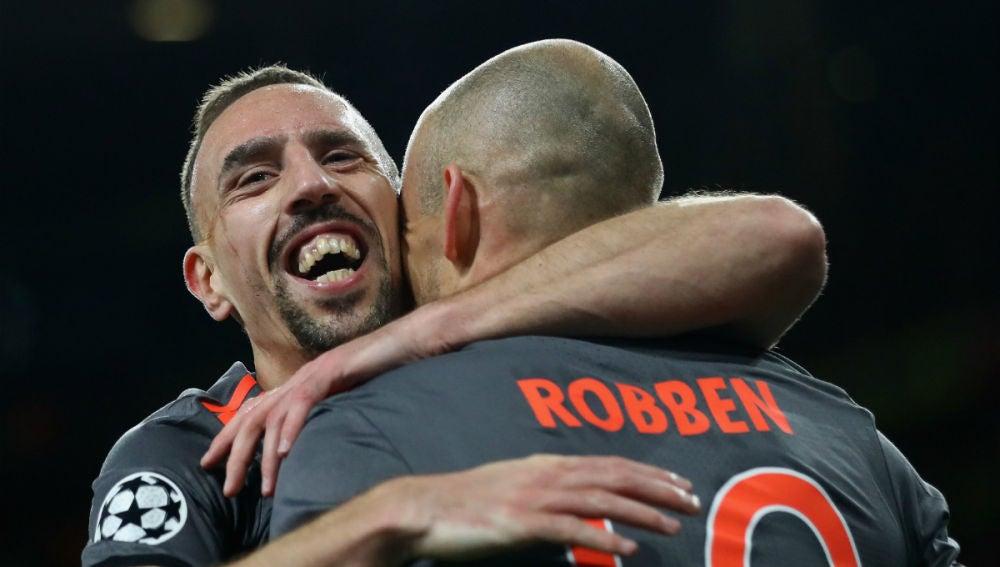 Ribery y Robben, con el Bayern