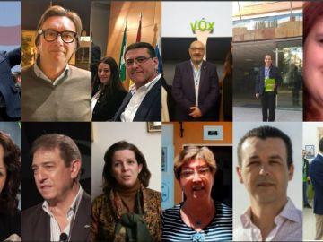 Los 12 diputados de Vox en el Parlamento de Andalucía