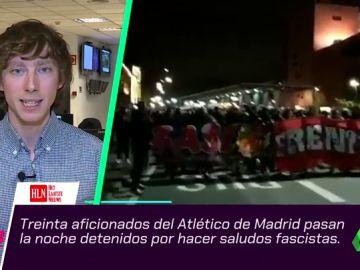 Detienen a 30 miembros del 'Frente Atlético' por hacer el saludo fascista en el partido contra el Brujas