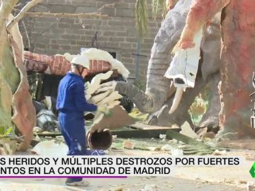 Dos heridos y múltiples destrozos por fuertes vientos en la Comunidad de Madrid
