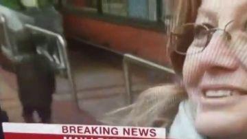 Efecto visual en plena entrevista de la BBC