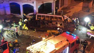 Tranvía accidentado en Lisboa