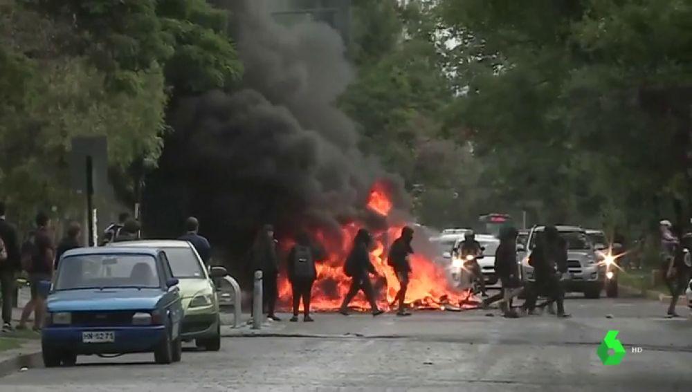 Imagen de los altercados en Chile