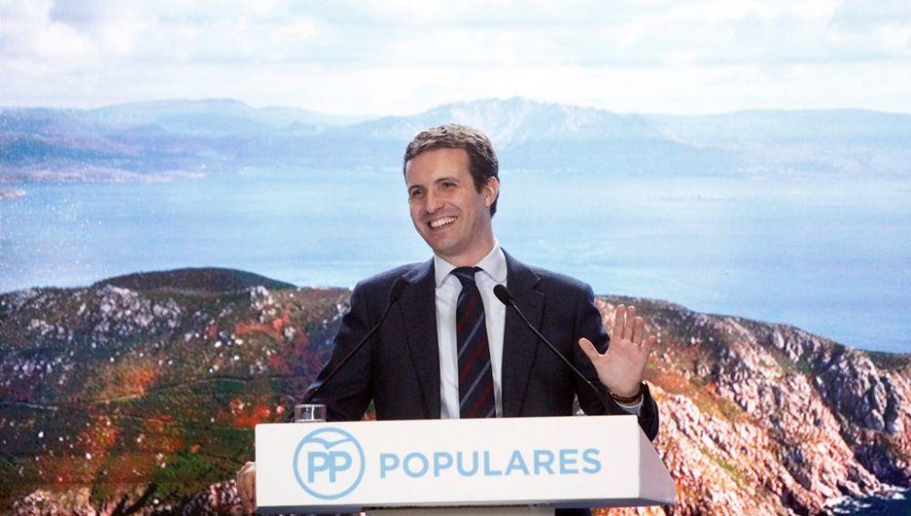Pablo Casado en un acto electoral