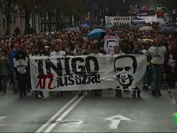 Manifestación de la plataforma Iñigo Cabacas