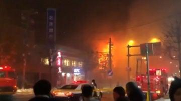 Incendio restaurante en Japón
