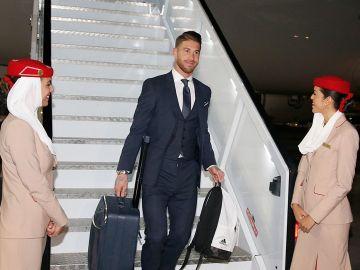 Sergio Ramos llega a Abu Dabi