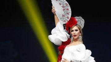 Ángela Ponce en el concurso de Miss Universo