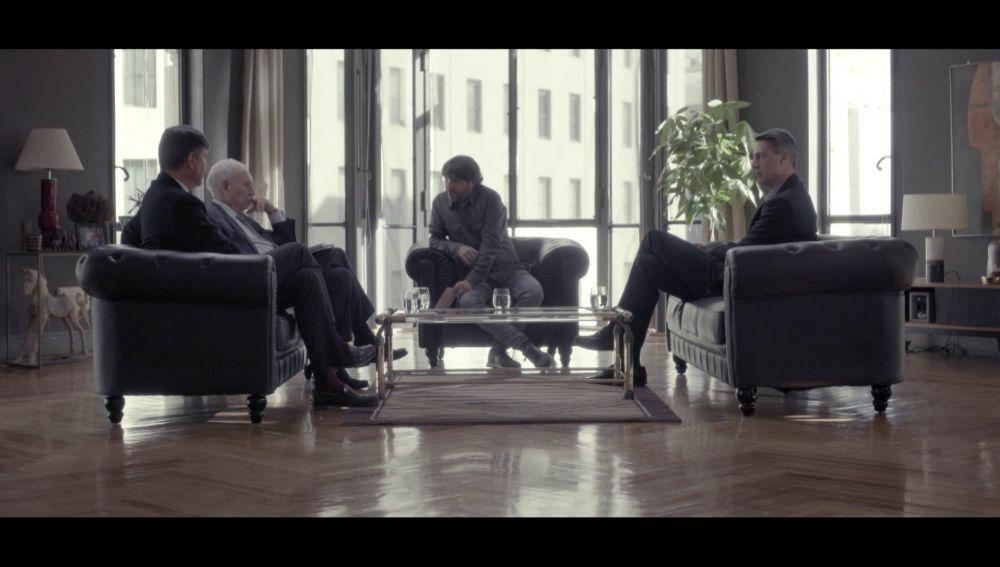 José Manuel García-Margallo, Xavier García Albiol, Manuel Pimentel y Jordi Évole