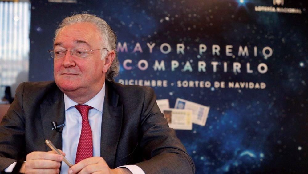 El presidente de la Sociedad Estatal Loterías y Apuestas del Estado, Jesús Huertas