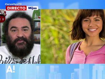 """El incómodo momento de El Sevilla con su hija y las """"tetas"""" de la 'Dora, la exploradora' de carne y hueso"""