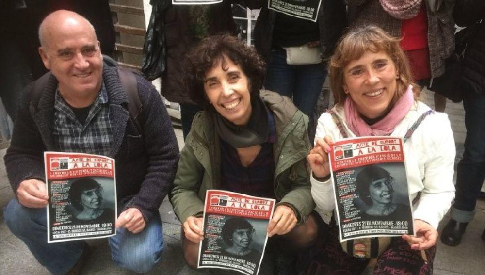 Lola Gutiérrez, junto a sus compañeros del Sindicato