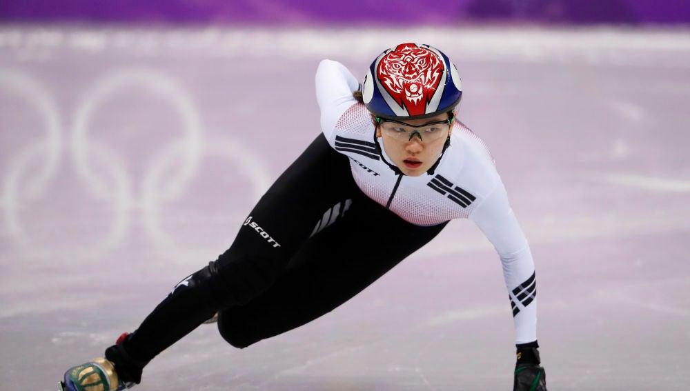 Shim Suk-hee, en plena competición