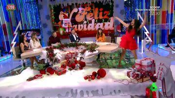 """El baile de Cristina Pedroche en homenaje a Mariah Carey: """"Hoy el programa va dedicado a ella"""""""