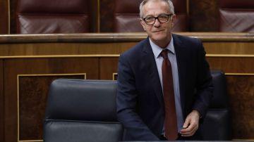 El ministro de Cultura y Deporte, José Guirao, durante su intervención en la sesión de control al Gobierno en el Congreso.