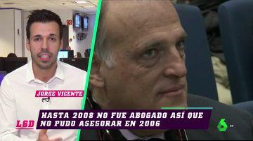 Javier Tebas se muestra tranquilo ante la imputación de un juez por alzamiento de bienes