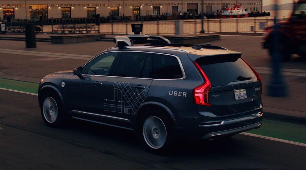 Coche de pruebas de Uber