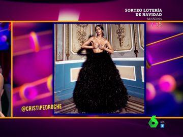 """La impresionante foto de Cristina Pedroche para arrancar la cuenta atrás de las Campanadas : """"Es un árbol de Navidad con las bolas"""""""