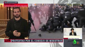Gerard Gómez, portavoz de Esquerra Republicana valora los incidentes del 21D