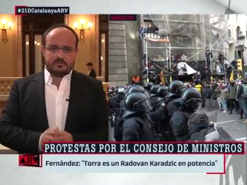 """Alejandro Fernández compara a Torra con un genocida serbobosnio: """"Es un Radovan Karadzic en potencia"""""""