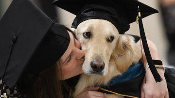 Griffin graduándose
