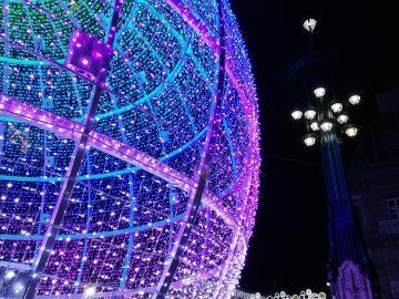 Luces navideñas de Vigo.