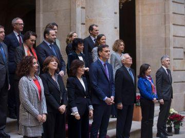 El Gobierno antes de la reunión del Consejo de Ministros de Barcelona