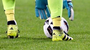 Un jugador de fútbol, durante un partido