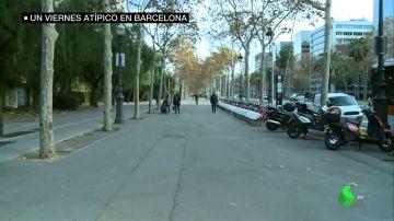 Los ciudadanos evitan pisar Barcelona durante la jornada de protestas del 21D