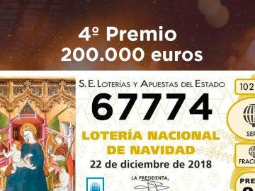 Segundo cuarto premio de la Lotería de Navidad 2018