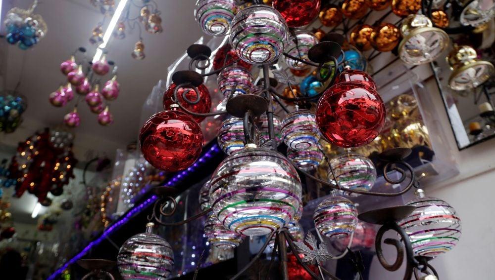 Esferas artesanales de Chignahuapan, México