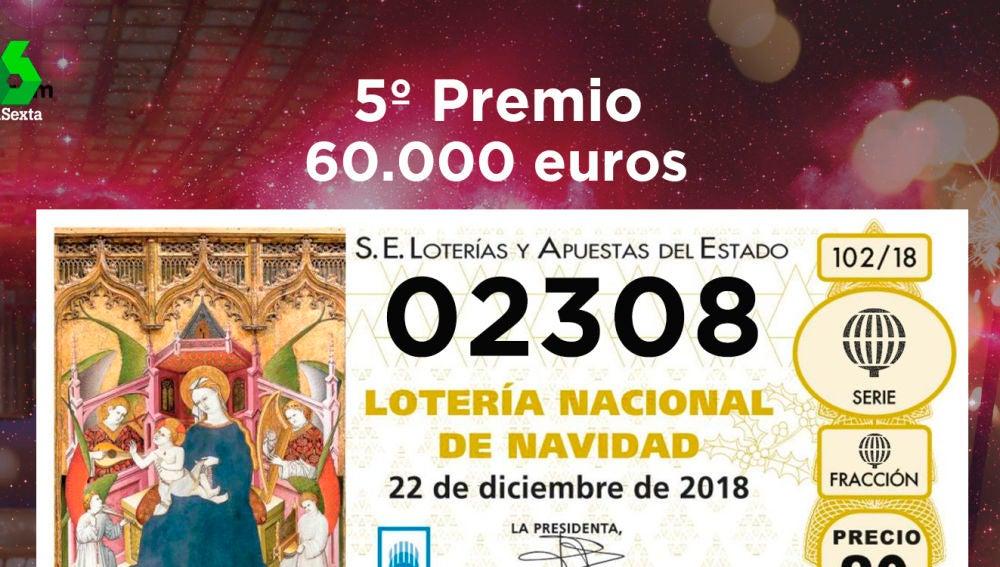Octavo quinto premio de la Lotería de Navidad