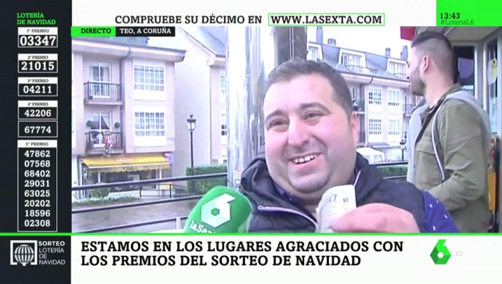 Diego se queda a una cifra de ganar 'El Gordo'