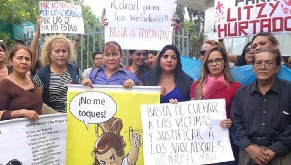 Manifestación de mujeres en Bolivia