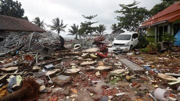 Imagen de la devastación que ha dejado el tsunami en Indonesia