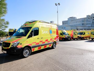 Una ambulancia de SAMU 061.