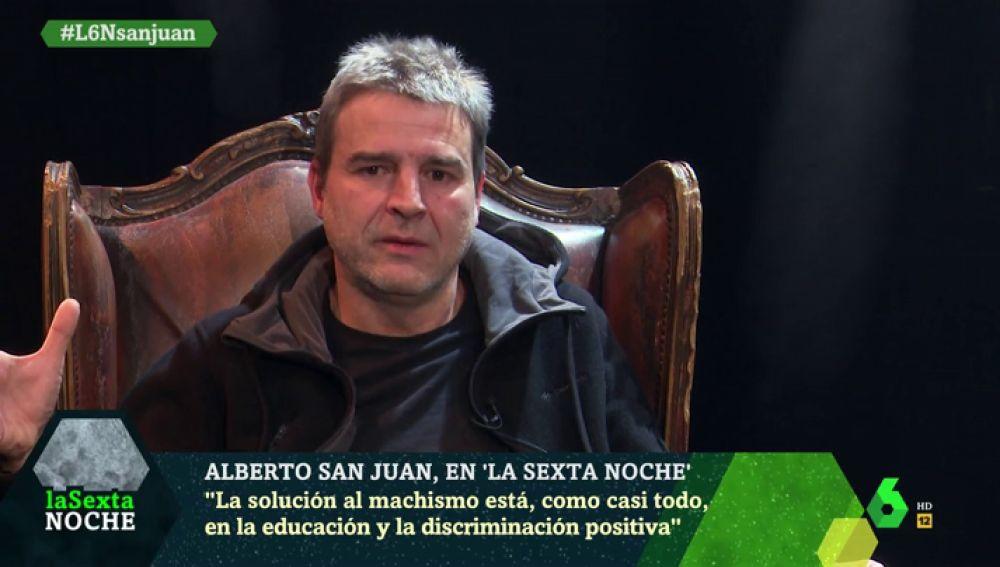"""Alberto San Juan: """"Creo que la solución al machismo está en la educación"""""""