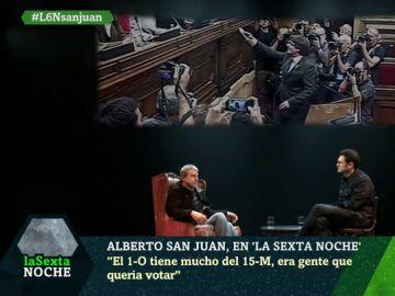"""La solución de Alberto San Juan para el conflicto en Cataluña: """"Algún día tiene que haber un referéndum"""""""