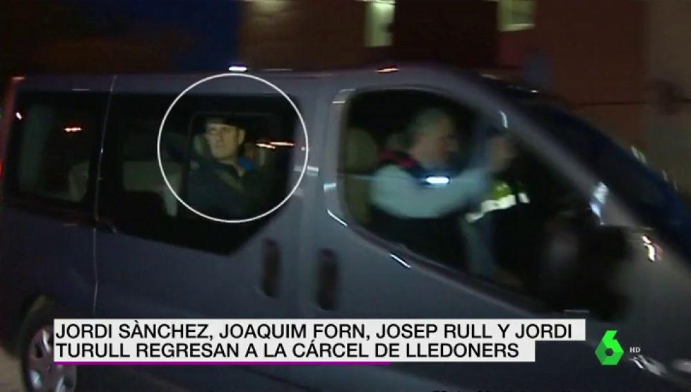 Jordi Sànchez, Joaquim Forn, Josep Rull y Jordi Turull regresan a la cárcel de Lledoners