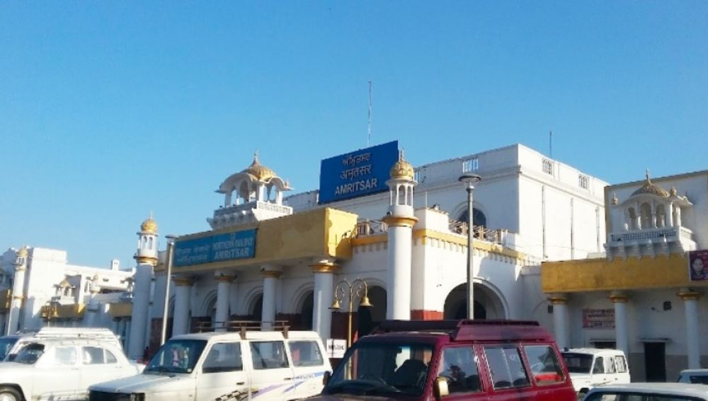 La estación de Amritsar en la que fue encontrado el pequeño